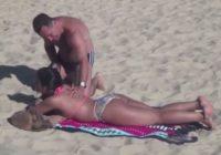 Viņš smērēja sauļošanās krēmu sievietei uz muguras, bet, kad viņa pagriezās…
