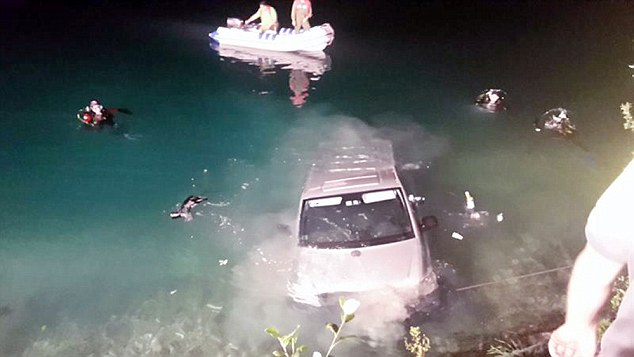 "Pic shows: The van where a couple were making love and rolled into a lake. A German couple had to escape through the windows of a minivan after it rolled into a nearby lake as they were making love in the back. According to the Austrian daily Heute, the driver, aged 49, and his 42-year-old girlfriend were enjoying a late night lovemaking session in the cargo area of his company minivan when it started to move. And before the unfortunate man could stop it, the vehicle landed in the lake. The pair managed to save themselves by climbing out through the windows just in time and swimming to shore. The pair were uninjured but had to call firemen to retrieve the Mercedes minivan from Lake Plansee in Tyrol, Austria. 	 A fire Brigade spokesman said: ""The vehicle had to be retrieved immediately as there was a risk it could cause pollution and damage the environment."" A crane retrieved the van from the bottom of the lake after a three-hour operation. (ends)"