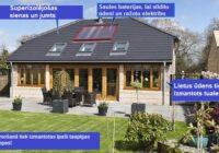 Pāris uzbūvēja ekomāju, kurā par siltumu nav jāmaksā; Viņi pat nopelna 2000 eiro