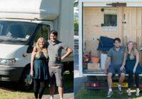 Jaunieši pārcēlās uz dzīvi vecā furgonā; tev IR jāredz, kā viņi to pārveidoja!