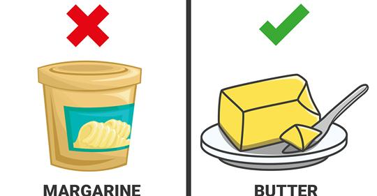 5 atšķirības starp margarīnu un sviestu (tas, par ko cilvēki nav informēti)