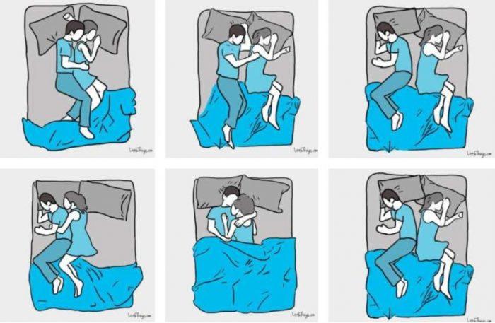 Atpazīsti sevi un savu otro pusīti kādā no šīm gulēšanas pozām? Lūk, ko tās atklāj par jūsu attiecībām!